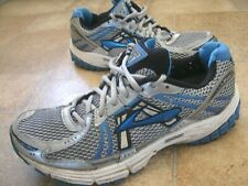 Brooks Adrenaline GTS 12 UK Men Size 7.5 breathable running trainers Silver/Blue