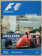 AUSTRALIAN GRAND PRIX FORMULA ONE F1 1995 ADELAIDE Official Programme