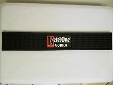 """New Ketel One Vodka Bar Rail Mat Black Rubber Counter Top Mat Spill 21"""" x 3-3/8"""""""