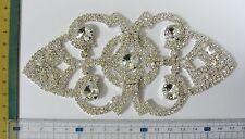 Rhinestone Applique Patch Sew On Craft Notion, Bridal Prom Rhinestone Glass 1pc