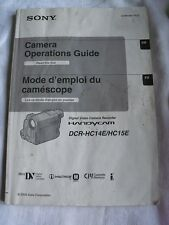 Instructions Camcord DCR-HC14E/HC15E Sony Handycam copie CD/E-mail