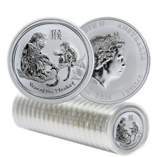 Mint Roll of 20 x 2016 Australia 1 oz Perth .999 Silver Lunar Monkey