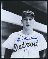 Reno Bertoia Detroit Tigers Baseball Autographed Signed 8x10 B&W Photo
