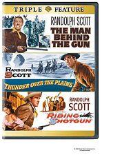 MAN BEHIND THE GUN /RIDING SHOTGUN/ THUNDER OVER THE PLAINS  DVD - UK Compatible