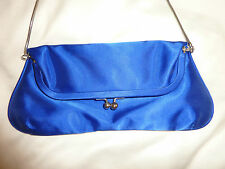 Olga Berg Satin Evening Bag - Royal Blue - Pre-owned, Great Condition