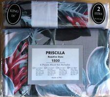 Priscilla King Size Sheet Set Reactive Dyes 2 Xtra Pillowcases
