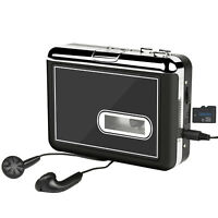 Cassette Player Portable Cassette to MP3 Converter Tape Recorder with Earphones