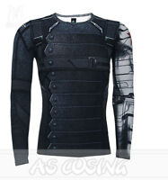 Captain America 3 Winter Soldier Bucky Barnes Cosplay Costumes Man 3D T-Shirts