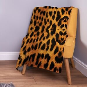 Real Leopard Print Design Soft Fleece Throw Blanket
