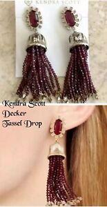 Kendra Scott Decker Tassel Drop Earrings, Berry Illusion, NWT $150