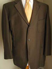 Ermenegildo Zegna Blazer 44R Brown 3 Buttons Cotton Wool Blend Made Switzerland