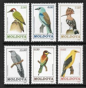 STAMPS-MOLDOVA. 1992. Birds Set. SG: 19/24. Mint Never Hinged.