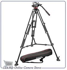 Manfrotto MVH502A,546BK-1 502HD Fluid Head + 546B Mid-Level Spreader Tripod Kit