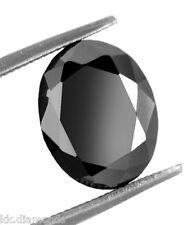 1.50ct natural black Diamond Oval cut Loose Diamond, Diamond Engagement ring 00