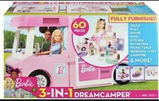 Barbie Dream Camper 3 In 1 Dream Camper Vehicle and Accessories- New