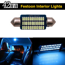 4X Ice Blue Canbus 42mm 3014 36SMD Festoon Led Interior Map Dome Light Bulbs