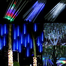 falling rain dropicicle snow fall string led xmas tree cascading lights decor - Raindrop Christmas Lights