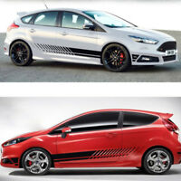 2pcs Auto Vinyl Side Body Door Racing Graphics Decal Sticker Car SUV Long Stripe