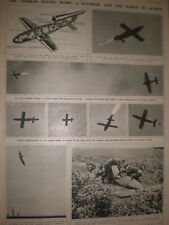 Photo article the German Flying bomb diagram and robot in action 1944 ref AP