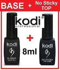 BEST SET! Rubber Base + No Sticky Top 8ml. Kodi Professional Gel Coat LED/UV