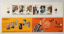 Carnet BC2753 neuf**  non plié année 1992. Personnages célèbres. Musiciens