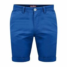 "Mens Chino Shorts Casual 100 Cotton Cargo Combat Half Pant Summer Jeans Royal Blue 34"" Waist"