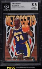 New listing 1996 Skybox E-X2000 Net Assets Shaquille O'Neal #13 BGS 8.5 NM-MT+