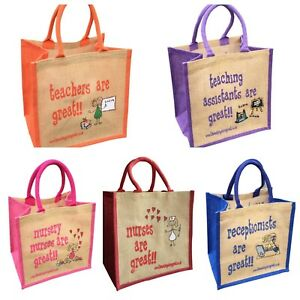 Jute Shopping Bags - JOBS from 'These Bags are Great' - Good Size Bag Gift