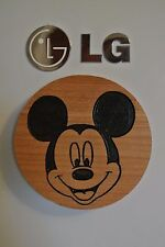 Mickey Mouse Magnet Cherry Wood Refrigerator Magnet American Made/ Homemade