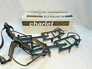 CHARLET MOSER S 12 Rapidfix BLACK ICE FULL CRAMPONS ADJUSTABLE