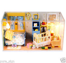 DIY Handcraft Miniature Project Kit My Baby Boy's Bedroom Wooden Dolls House