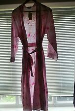 Size 16 Shapely Figures Pink Floral Dressing Gown, Nightie & Hangers Gift Set