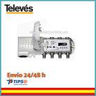 AMPLIFICADOR ANTENA DE TELEVISION TDT TV INTERIOR 2 SALIDA+TV-F- LTE 552240. TEL