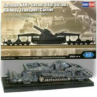 Hobbyboss 1:72 German KARL-Gerat 040/041 On Rail Transport Carrier Model Kit