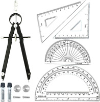 Geometry School Set With Quality Compass Drawing Compass Protractor Set Square T