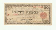 Philippines Emergency Currency Negros 50 Pesos - # 225123