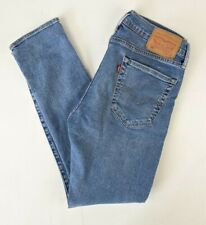 Levi's 519 Men Blue Skinny Slim Stretch Jeans W32 L30