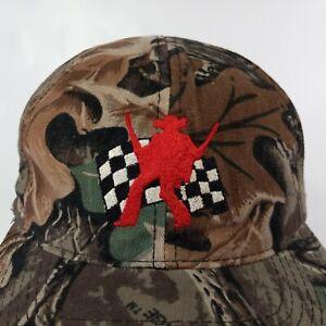 Buckshot 00 Jones Hat Cap NASCAR Racing Cowboy Checkered Flag Camo Snapback Vtg