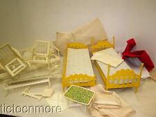 Vintage Barbie Go Together Furniture Set & Skipper Yellow Bunk Beds Lot