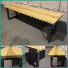 Industrial Bench/Steel/Oak/Furniture/Interior/Kitchen/Dining/Rustic