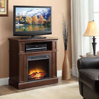 TV Stand With Electric Fireplace 42 Inch TVs Media Console Entertainment Center