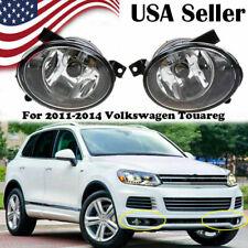 Pair Left & Right Fog Light Lamp For Volkswagen VW Touareg 2010 2011 2012-2014