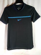 Nike Court AeroReact Rafa Challenger Black/Blue Tennis Shirt Mens XS