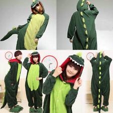 Adult Cosplay Green Dinosaur Unisex  Animal Costume Onesie88 Pajamas Sleepwear^^