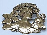 Jugendstil Brosche um 1910 Charles Pillet signiert 800 Silber verg. Art Nouveau