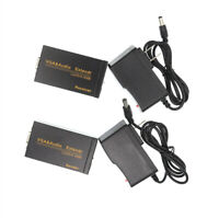 100M VGA Audio Signal Extender Converter +US Plug Adapter Over Cat5e Cat6 Cable