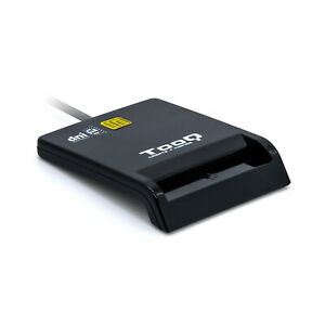 Lector Externo DNI electrónico Tarjetas Inteligentes USB 2.0 480Mbps NEGRO TOOQ