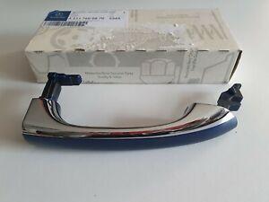 NEW MERCEDES E CLASS W211 DRIVERS FRONT EXTERIOR BLUE DOOR HANDLE - A2117600870