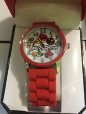 Angry Birds Adult Or Kids Watch- Analog Watch NIP Work Red Band