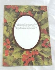 Victorian Trading Co 10pk Holly Photo Frame Christmas Holiday Greeting Cards 8B